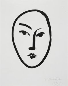 Henri Matisse (1869-1954) Grand Masque, 1948 акватинта   подписано крандашом и пронумеровано автором лист 11/25 изображение 43х34см лист 65x50 продано в 2017 за US$ 62,500 (RUB 3,623,066)  #акватинта #Bonhams #аукционы