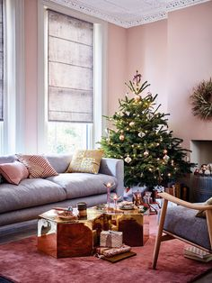 Pink & Gray Living Room - Home Interiors