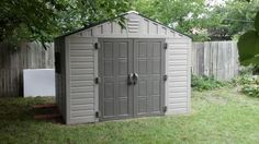 US Leisure Keter Stronghold 10 ft. x 8 ft. Resin Storage Shed 157479