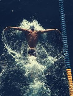 This is why swimmers have amazing bodies. Total body workout every time you enter the water