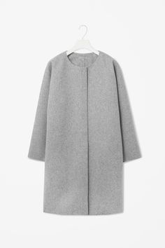 Curved Seam Wool Coat by COS | Women's Clothing