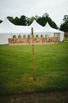 wedding sign  | www.onefabday.com
