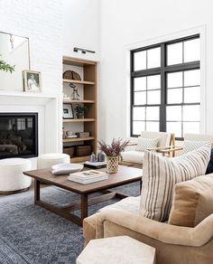 Living Tv, New Living Room, Home And Living, Living Room Decor, Living Spaces, Cozy Living, Modern Living, Studio Mcgee, Home Design