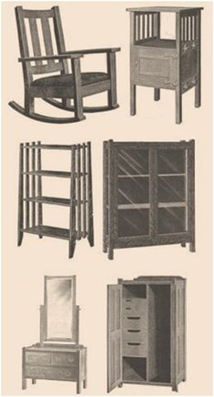 Build Authentic Mission-Style Furniture from Free Heirloom Plans – VintageInternetPl... offers free, downloadable copies of the exact same project plans that woodworkers used in the late 19th century and early 20th century to create the simple, sturdy oak and ash furniture that antique collectors seek out today. Just click through to print your plans.