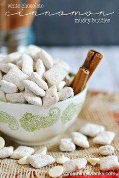 White Chocolate Cinnamon Muddy Buddies.