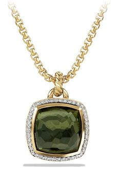 David Yurman 'Albion' Pendant with Lemon Citrine and Diamonds in Gold available at #Nordstrom