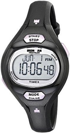 Timex Women's T5K187 Ironman Pulse Calculator Black/Purple Resin Strap Watch - http://dressfitme.com/timex-womens-t5k187-ironman-pulse-calculator-blackpurple-resin-strap-watch/