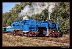 498.022 + 477.043_Lužná u Rakovníka_CZ   by ferdahejl Train Car, Train Tracks, Railway Museum, Old Trains, Thomas And Friends, Steam Engine, Steam Locomotive, Techno, Transportation