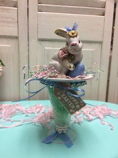Easter vintage bunny vintage glass and vintage by madigansbbfl