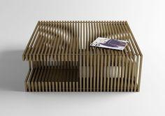 Coffee table Barandillo // Studioforma // Price up on request Funky Furniture, Bespoke Furniture, Art Furniture, Furniture Design, Stylish Chairs, Modern Chairs, Elle Decor, Home Deco, Sofa Bench