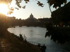 Tevere river to sunset