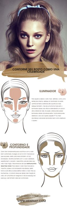 How to contour the face like a celebrity