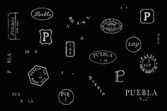 Logos hand drawn by Savvy for art, design and gastronomy experience Puebla 109