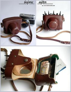 DIY Vintage Camera Bag to Purse Tutorial from Fashionrolla here.This is one of the best bag restyles I've seen recently.