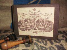 Photo album, shabby chic, vintage, victorian, retro -Exposition universelle-. $25.00, via Etsy.