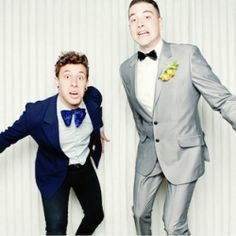 Fun photos of quirky and chic grooms wearing awesome bow ties.