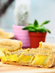 Tarte aux poireaux et millet (vegan & sans gluten) - Lily tasty