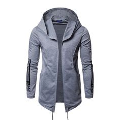 Sweatwater Mens Quilted Cotton-Padded Hooded Winter Thicken Down Parka Coat