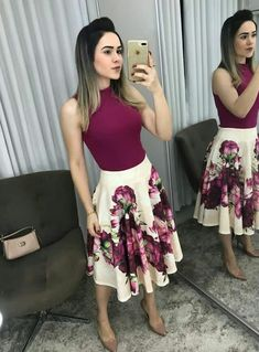 84 cute spring business casual women's outfits ideas 54 Jw Fashion, Modest Fashion, Church Fashion, Fashion Dresses, Womens Fashion, Cute Skirts, Cute Dresses, Summer Dresses, Skirt Outfits