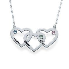 online shopping for Womans Swarovski Birthstones Engraved Intertwined Hearts Necklace -Personalized Jewelry Gift from top store. See new offer for Womans Swarovski Birthstones Engraved Intertwined Hearts Necklace -Personalized Jewelry Gift I Love Jewelry, Jewelry Gifts, Silver Jewelry, Fine Jewelry, Silver Ring, Mother Jewelry, Gold Jewellery, Fashion Jewellery, Silver Earrings