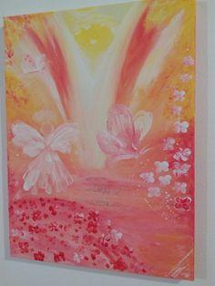 Painting by Katerina Pfeiferova The memory of Anohter Worlds. Love and Happiness Teplo a Laska Zdroje. Vzpomínky z Jinych Světů