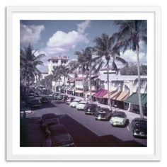 Check out this item at One Kings Lane! Slim Aarons, Palm Beach Street Cars