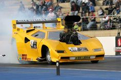 It\'s a fiberglass body on a full tube chassis drag car NOT a real Lamborghini