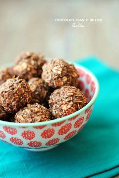 Chocolate Peanut Butter Balls - sugar-free, vegan and only 1 WW point per ball!