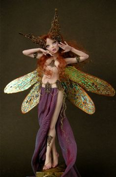Art Nouveau Dragonfly Faerie - Nicole West Fantasy Art