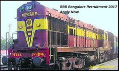 RRB Bangalore Recruitment 2017 #Career #Jobs #hiring #jobopening #jobposting #employment #opportunity #recruiting
