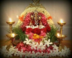 Diwali Decorations At Home, Festival Decorations, Flower Decorations, Ganesh Pooja, Shree Ganesh, Ganpati Decoration Design, Ganesh Chaturthi Decoration, Lord Rama Images, Janmashtami Decoration