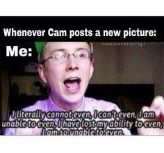 Cam's selfies