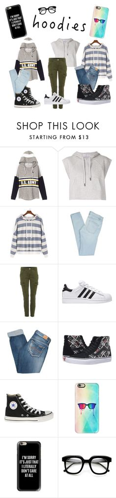 """""""Hoodies"""" by dalva221 ❤ liked on Polyvore featuring adidas, Marc by Marc Jacobs, J Brand, Pepe Jeans London, Vans, Converse, Casetify and ZeroUV"""