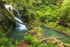 Vaioaga waterfall by Janos Gaspar - Vaioaga waterfall and clean river,Beusnita National Park,Romania What A Wonderful World, Beautiful World, Beautiful Places, Places Around The World, Around The Worlds, Natural Park, Romania, Wonders Of The World, Montana