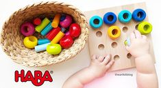 Amazon.com: HABA Palette of Pegs - 32 Piece Wooden Pegging & Arranging Game for Ages 2 and Up: Toys & Games