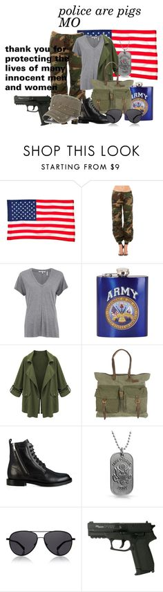 """""""Army men"""" by sapphire-creates ❤ liked on Polyvore featuring Evergreen, Rothco, Helmut Lang, Will Leather Goods, Yves Saint Laurent, Bling Jewelry, The Row, women's clothing, women and female"""