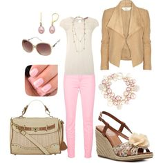 Pink and Cream, created by heather767 on Polyvore