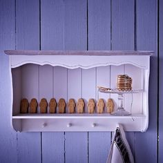Brittany Cream Wall Shelf by Daisy West Cream Kitchen Walls, Cream Walls, Kitchen Wall Shelves, Wall Cabinets, My Ideal Home, Rustic Shelves, Wall Storage, Shabby Chic Furniture, Decoration