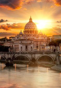 Glorious Rome , Italy sunset