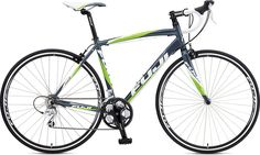New bike! 2012 Fuji Newest 3.0. It's not pink. But lime green is my other favorite.