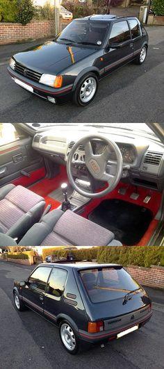 1988 Peugeot 205 GTi ✏✏✏✏✏✏✏✏✏✏✏✏✏✏✏✏ IDEE CADEAU / CUTE GIFT IDEA  ☞ http://gabyfeeriefr.tumblr.com/archive ✏✏✏✏✏✏✏✏✏✏✏✏✏✏✏✏