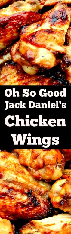 Oh So Good Jack Daniel's Chicken Wings are fabulous! They're easy to prepare, suitable for grilling or oven and taste out of this world with a great marinade. Always a hit at parties! | Lovefoodies.com