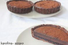 karolina-azzaro: Kakaové Tartaletky s čučoriedkovým želé a čokoládo...
