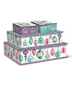Look what I found on #zulily! Merry & Bright Nested Cigar Boxes - Set of Four by Lady Jayne Ltd. #zulilyfinds