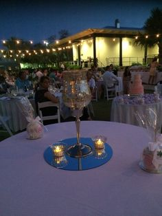 Candles not only add light but also add a mood to any setting! #Candles #Light #Decor #Romantic #Decorate #Wedding #Reception #WeddingCake #FaroBlancoResort