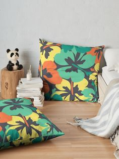 """""""Flower Print, Flower Pattern"""" Floor Pillow by MsD7   Redbubble Floor Pillows, Throw Pillows, Bedroom Stuff, Flower Prints, Flower Patterns, Pillow Covers, Lounge, Room Decor, Tapestry"""
