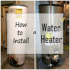 How to install a water heater in one simple step!