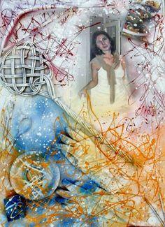 """Pete Guest e GMZago """"La casalinga"""" - Pittura, 100x70 cm © 2011 di Zago -"""