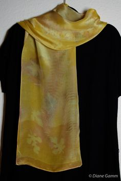 scarf dyed with onion skins