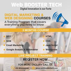 web booster tech is a website designing, web development and best digital marketing company in india providing services as per business need. Marketing Training, Email Marketing, Content Marketing, Best Digital Marketing Company, Training Programs, Web Development, Need To Know, Searching, Seo